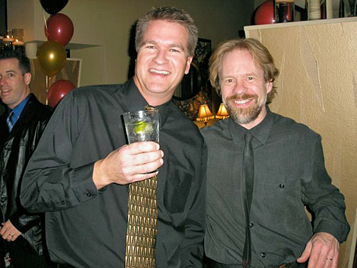 Mark with drummer John Ohlson